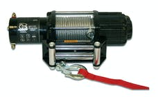 Bulldog Winch 15004 4000lb UTV/Utility Winch, Two Switches, Mounting Channel, Roller Fairlead