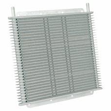 "Flex-A-Lite 400130 Transmission Oil Cooler, 11"" X 10"" X 3/4"", 30 Row, 3/8"" BARB"