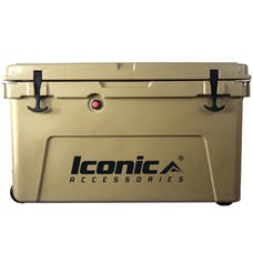 Iconic Accessories 810-1050 50QT Cooler Box with Aluminum T-Track, Outer size: 28.7x17.3x17.3