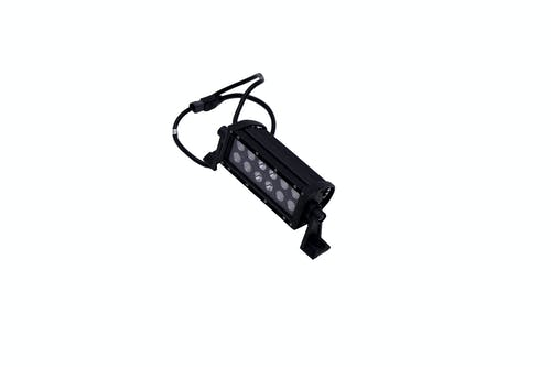 "Iconic Accessories 512-1061 6"" Dual-Row Straight LED Light Bar (8° Spot/90° Flood, 3,240 lm, Black Face)"