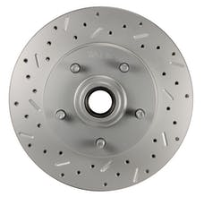 LEED Brakes 5514 LCDS Rotor Left side Cross drilled and slotted