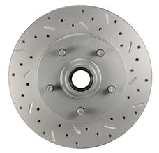 LEED Brakes 5514 RCDS Rotor Right side Cross drilled and slotted