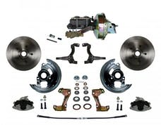 LEED Brakes FC1002-E1A1 Power Front Disc Kit - 9 in - Disc Drum - Zinc