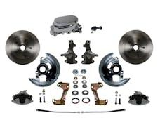 LEED Brakes FC1003-F05 Manual Front Disc Conversion Kit - Adj Valve - Chrome