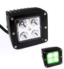Race Sport Lighting RS-XH-3X316W GREEN x-Hunter Series LED 3 x 3in 16W 4 LED CREE Cube Spot Light