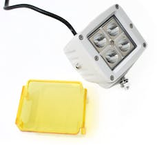 """Race Sport Lighting RS4L3X316W-W Street Series 3"""" x 3in 16W 4 LED CREE Cube Spot Light with Amber Cover"""