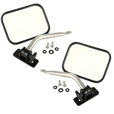 Rugged Ridge 11026.12 Quick Release Mirror Relocation Pair, Stainless