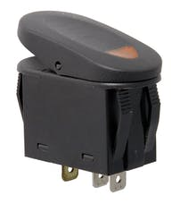 Rugged Ridge 17235.01 2-Position Rocker Switch; Amber