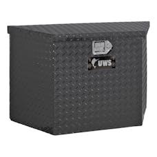 "UWS TBV-34-BLK 34"" Aluminum Trailer Chest Box Chest Black"