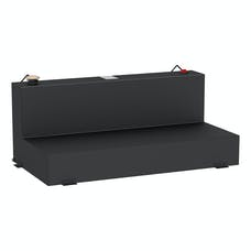 UWS ST-100-L-MB 100 Gallon Combo Steel Matte Black