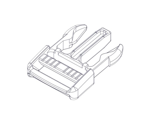 """Access Cover 10163 Side Squeeze Buckle, 1"""" male end"""