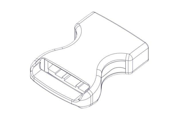 """Access Cover 10164 Side Squeeze Buckle, 1"""" female end"""