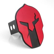 AMI Styling 1041RK Helmet Style Red on Black Hitch Cover