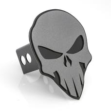 AMI Styling 1042AMK Skull Style Anthracite on Black Hitch Cover