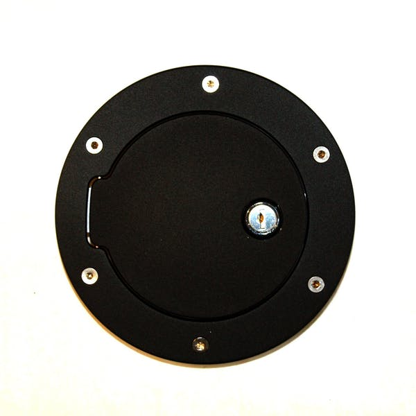 AMI Styling 6047KL AMI Race Style Billet Fuel Dr 6 1/2in. Ring O.D. 4 1/2in. Door O.D.-Flat Black R