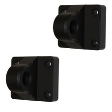 AMI Styling 8805K-2 D-Ring Mounts-Single-Flat Black