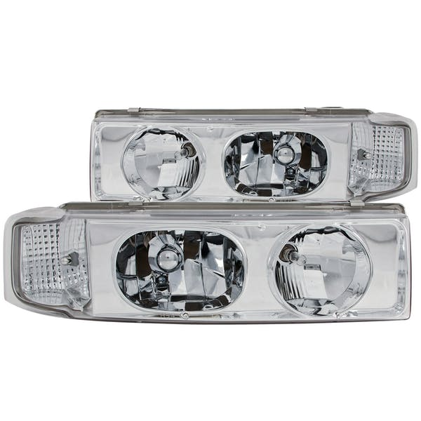 AnzoUSA 111001 Crystal Headlights Chrome 1pc