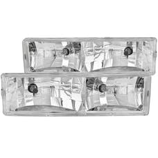 AnzoUSA 111004 Crystal Headlights Chrome