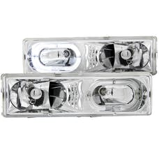 AnzoUSA 111006 Crystal Headlights Chrome with Halo