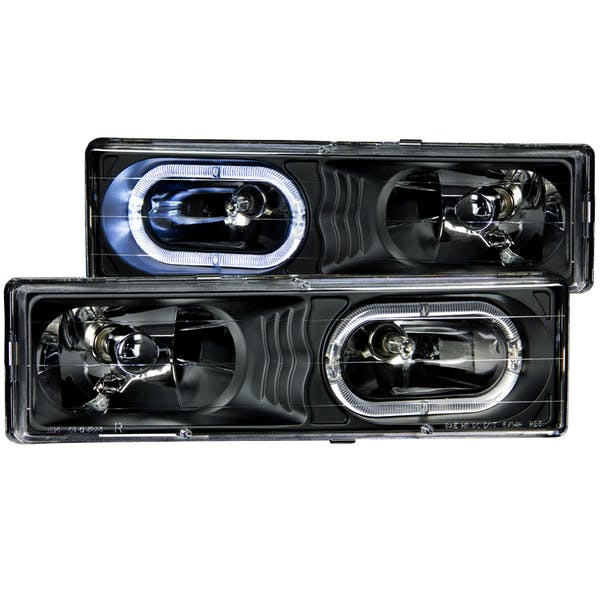 AnzoUSA 111007 Crystal Headlights Black with Halo