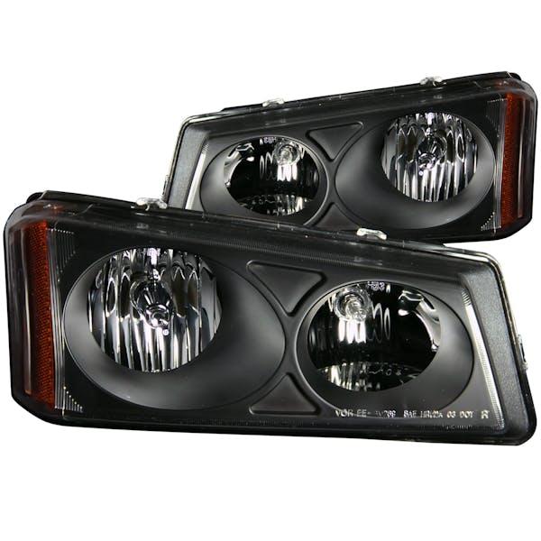 AnzoUSA 111009 Crystal Headlights Black