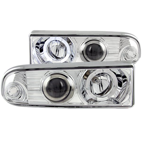 AnzoUSA 111016 Projector Headlights with Halo Chrome