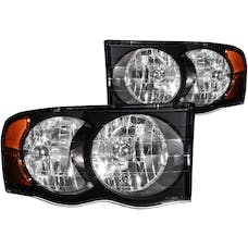 AnzoUSA 111022 Crystal Headlights Black