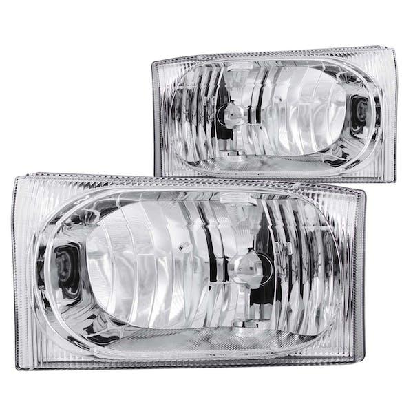 AnzoUSA 111023 Crystal Headlights Chrome 2pc