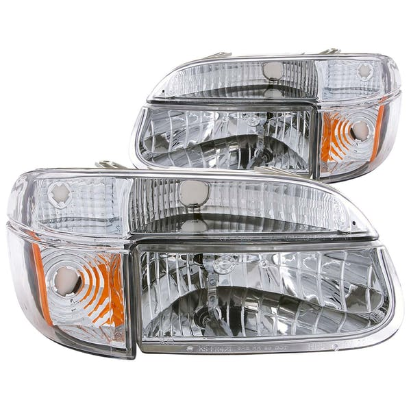 AnzoUSA 111040 Crystal Headlights Chrome with Corner Lights 2pc