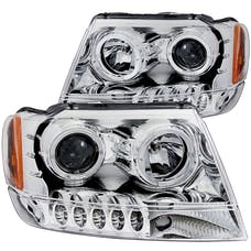 AnzoUSA 111044 Projector Headlights with Halo Chrome