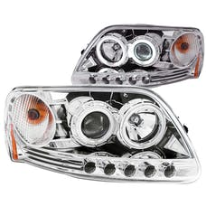 AnzoUSA 111054 Projector Headlights with Halo Chrome 1pc
