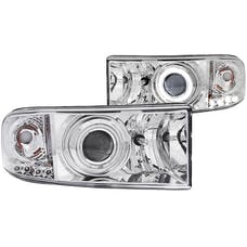 AnzoUSA 111056 Projector Headlights with Halo Chrome