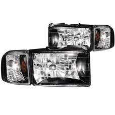 AnzoUSA 111067 Crystal Headlights Black