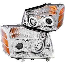 AnzoUSA 111094 Projector Headlights with Halo Chrome (SMD LED)