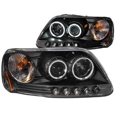 AnzoUSA 111097 Projector Headlights with Halo Black (SMD LED)