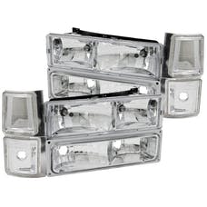 AnzoUSA 111099 Crystal Headlights Chrome with Signal & Side Marker Lights