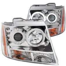 AnzoUSA 111108 Projector Headlights with Halo Chrome