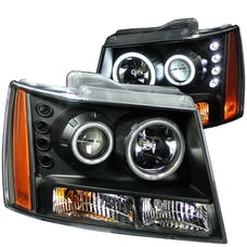 AnzoUSA 111109 Projector Headlights with Halo Black (SMD LED)