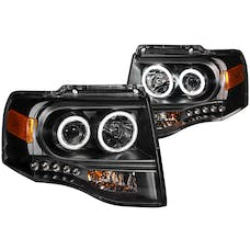 AnzoUSA 111113 Projector Headlights with Halo Black