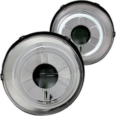AnzoUSA 111115 Projector Headlights with Halo Chrome