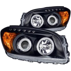 AnzoUSA 111120 Projector Headlights with Halo Black