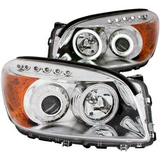 AnzoUSA 111121 Projector Headlights with Halo Chrome (SMD LED)