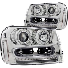 AnzoUSA 111131 Projector Headlights with Halo Chrome