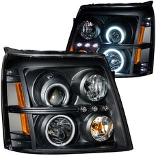 AnzoUSA 111142 Projector Headlights with Halo Black (SMD LED)