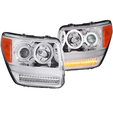 AnzoUSA 111144 Projector Headlights with Halo Chrome (SMD LED) G2