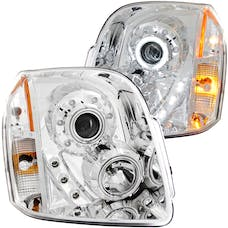 AnzoUSA 111147 Projector Headlights with Halo Chrome (SMD LED)