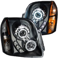 AnzoUSA 111148 Projector Headlights with Halo Black (SMD LED)