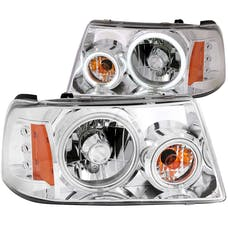 AnzoUSA 111151 Crystal Headlights with Halo Chrome (SMD LED) 1 pc