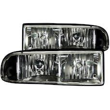 AnzoUSA 111156 Crystal Headlights Black