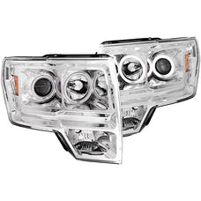 AnzoUSA 111162 Projector Headlights with Halo Chrome (SMD LED)